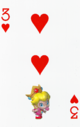 The Three of Hearts card from the NAP-03 deck.
