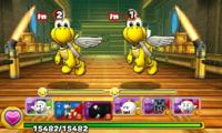 Screenshot of World 7-Airship, from Puzzle & Dragons: Super Mario Bros. Edition.