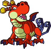 Artwork of Hooktail from Paper Mario: The Thousand-Year Door