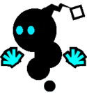 Sprite of a Blue Magiblot from Super Paper Mario.