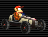 Diddy Kong's Classic Dragster from Mario Kart Wii