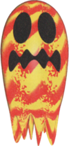 Official artwork of a Lava Ghost from Yoshi's Story