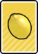A Lemon Card in Paper Mario: Color Splash.