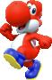 Red Yoshi from Mario Kart Tour