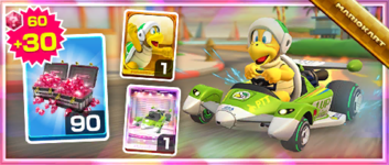 The Green Circuit Pack from the Los Angeles Tour in Mario Kart Tour