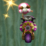 Toadette performing a trick