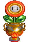 Flower Cup trophy in Mario Tennis Aces