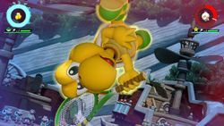 Koopa Troopa performing his Special Shot, the Spin Break