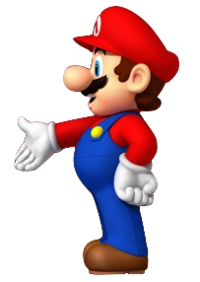 Promotional artwork of Mario for the 25th anniversary of Super Mario Bros.