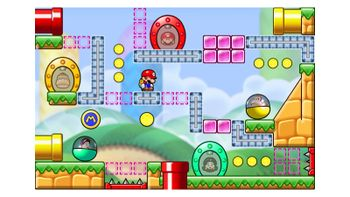 Miiverse screenshot of the 9th official level in the online community of Mario vs. Donkey Kong: Tipping Stars