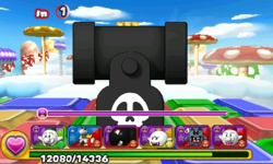 Screenshot of World 6-5, from Puzzle & Dragons: Super Mario Bros. Edition.
