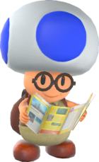 Rendered model of Hint Toad in Super Mario Odyssey.
