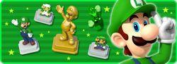 "In-game notification banner for ""Weekend Spotlight: Luigi"" in Super Mario Run."