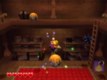 One of Wonky Circus's red diamond sub-levels from Wario World.