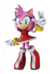 Artwork of Amy from Mario & Sonic at the Olympic Winter Games.