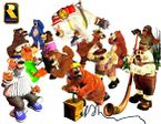 Group artwork of all the Brothers Bears from Donkey Kong Country 3: Dixie Kong's Double Trouble!