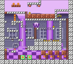 Level 10-10 map in the game Mario & Wario.