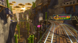Wario's Gold Mine in Mario Kart Wii