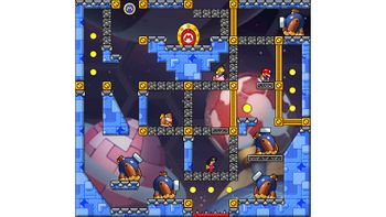 Miiverse screenshot of the 48th official level in the online community of Mario vs. Donkey Kong: Tipping Stars