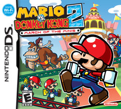 North American box art for Mario vs. Donkey Kong 2: March of the Minis