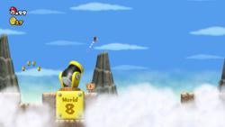 Mario in World 6-Cannon