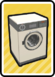 The PAL version of a Washing Machine Card in Paper Mario: Color Splash.