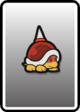 A Spike Top card from Paper Mario: Color Splash