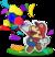 Artwork of Mario using Confetti in Paper Mario: The Origami King