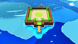 Scuffle Island in Paper Mario: The Origami King
