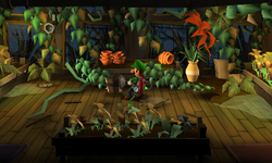 The Plant Nursery segment from Luigi's Mansion: Dark Moon.