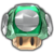 A 1-Up Mushroom from Paper Mario: The Origami King.