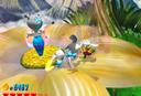 Wario fighting a blue Crystal Entity in Beanstalk Way