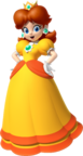 Artwork of Princess Daisy in Mario Kart 7 (later used in Mario Party 10, Super Mario Run and Mario Party: The Top 100)