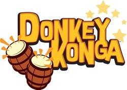 The logo of Donkey Konga.