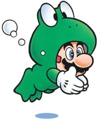 Frog Mario in Super Mario Bros. 3.