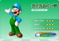 Ice Luigi, from Mario Kart Arcade GP DX.