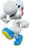 White Yoshi from Mario Kart Tour