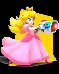 Artwork of Princess Peach in Mario + Rabbids Kingdom Battle.