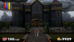 Dark Bloo Inn from Paper Mario: Color Splash.