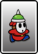 A Red Spike Guy card from Paper Mario: Color Splash