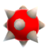 Render of the Spiny Egg enemy in Super Mario Galaxy 2.