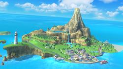 Screenshot of Wuhu Island in Super Smash Bros. for Wii U