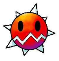 Igashira-kun official artwork from Yoshi Topsy-Turvy