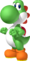 Artwork of Yoshi from Mario Party 8 (later reused in Mario & Sonic at the Rio 2016 Olympic Games)
