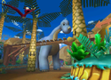 The icon for Dino Dino Jungle, from Mario Kart Double Dash!!.