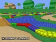 Screenshot of Donut Plains 1 in Mario Kart DS