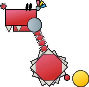 Sprite of a Rawbus from Super Paper Mario.