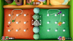 Tow The Line minigame from Super Mario Party