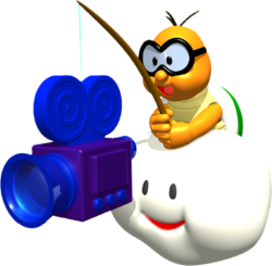 Artwork of one of the Lakitu Bros. from Super Mario 64