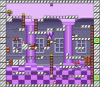 Level 10-3 map in the game Mario & Wario.